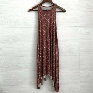 Ecote Urban Outfitters Maroon Diamond Print Dress